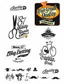 Vintage, Retro Styled Premium Quality And Satisfaction Guarantee Label Collection