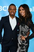 LOS ANGELES - JAN 7:  Terrence Jenkins, Giuliana Rancic attends the NBCUniversal 2013 TCA Winter Pre