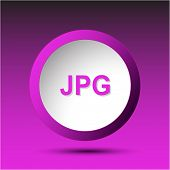 Jpg. Plastic button. Raster illustration.