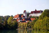 Hohes Schloss Fussen And St. Mang Church