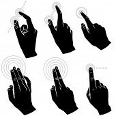 Multi-touch Hand Gestures For Smart-phone, Tablet And Pad - Set of Six Gestures