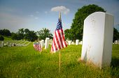 Gravestones and Flags