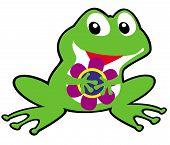 foto of baby frog  - cartoon frog children illustration for babies and little kids - JPG