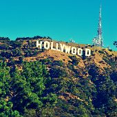 LOS ANGELES - OCTOBER 17: Hollywood sign on October 17, 2011 in Los Angeles. The sign, located in Mount Lee, spells out the name of the area in 45-foot-tall and 350-foot-long white letters