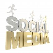 stock photo of sm  - Social Media competition conception - JPG
