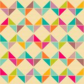 stock photo of parallelogram  - Abstract retro geometric seamless pattern - JPG