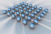 3D Chrome Balls