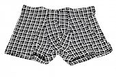 image of boxer briefs  - patterned boxer briefs on a white background - JPG