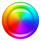 Círculo de botón de arco iris