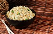 pic of chinese wok  - Bowl of egg fried rice an excellent side order with chinese food - JPG