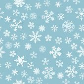 Snow Seamless Light Blue Vector Background