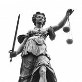 stock photo of judiciary  - Statue of Lady Justice  - JPG
