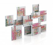 3D Web Design Word Tags Wordcloud