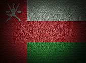Omani Flag Wall, Abstract Grunge Background