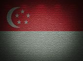 Singaporean Flag Wall, Abstract Grunge Background