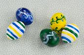 Five Easter Eggs, Handmade Painted