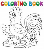 Coloring book bird image 7 - vector illustration.