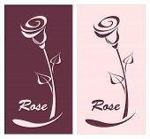 Rose for logotype something or style post card