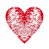vector fingerprint heart