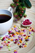 Cup of Coffee and Candies Heart