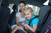 Travelling In Car With Safety Child Seat
