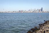 Cityscape View, Elliott Bay, Seattle, USA
