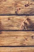 Old Rustic Pine Wood Fence - Detail