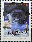 Canada - Circa 1991: A Stamp Printed By Canada, Shows Folktales, Buried Treasure, Circa 1991