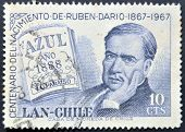 Chile - Circa 1967: A Stamp Printed In Chile Shows Ruben Dario, Circa 1967