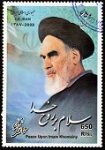 Iran - Circa 2008: A Stamp Printed In Iran Shows Khomeini, Circa 2008