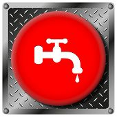 Water Tap Metallic Icon