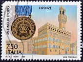 Italy - Circa 1995: A Stamp Printed In Italy Dedicated To Florence, Circa 1995