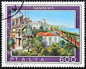 Italy - Circa 1991: A Stamp Printed In Italy Shows San Remo, Circa 1991