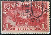 A stamp printed in USA dedicated to Post Office Clerk