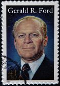 United States Of America - Circa 2007: A Stamp Printed In Usa Shows President Gerald R Ford