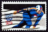 Postage Stamp Usa 1979 Speed Skating, Olympic Games, Lake Placid