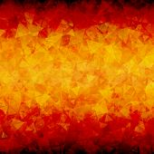 foto of bottom  - Abstract red orange scattered triangles vector background with blackout at top and bottom sides - JPG