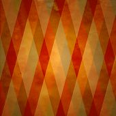 image of diamond  - seamless background of fall warm colored diagonal stripes - JPG