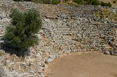 stock photo of dalyan  - Kaunos Old Amphitheatre in Dalyan Town - JPG