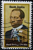 Usa - Circa 1997 : Stamp Printed In Usa Shows Scott Joplin American Composer And Pianist, Circa 1997