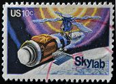 United States - Circa 1974: A Stamp Printed In Usa Shows Skylab, Circa 1974