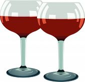Two Glass With Red Wine