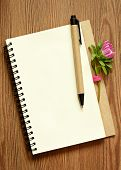 Aster Bud On A Notepad