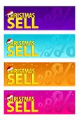 Four Colorfull Banners Christmas Sell