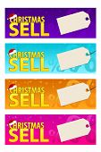 Four Colorfull Banners With Labels