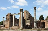 Ruins of a Temple in Ostia Antica