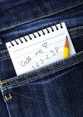 Notebook In Jeans Pocket