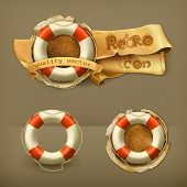 Lifebuoy, vector icon