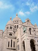 Sacre-Coeur Basilica on Montmartre, Paris, France