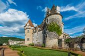CASTELNAUD-LA CHAPELLE, FRANCE - JUNE 22: exterior of Chateau des Milandes on june 22, 2012 at Dordo